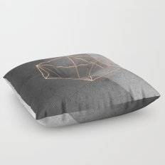 Geometric Solids on Marble Floor Pillow