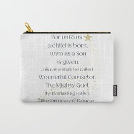 Isaiah 9:6 Carry-All Pouch