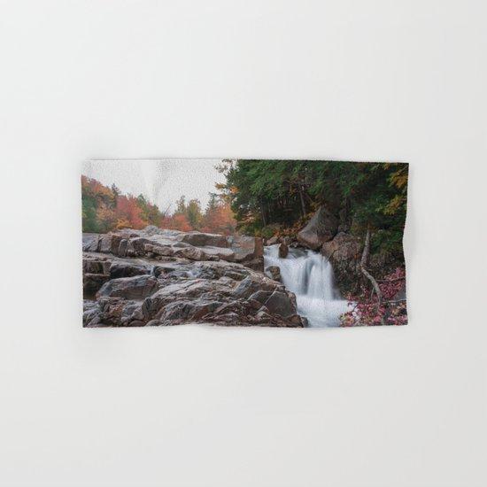 Rocky Gorge Waterfall in Autumn Hand & Bath Towel