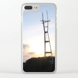 Sutro Tower at Sunset Clear iPhone Case