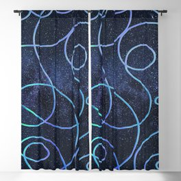 Graphic fields Blackout Curtain