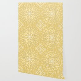 Single Snowflake - Yellow Wallpaper