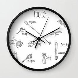 Bar Tools Wall Clock