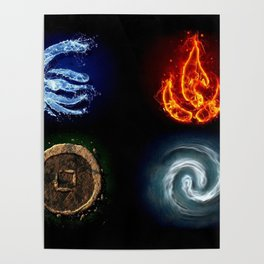 Four Elements- Avatar Poster