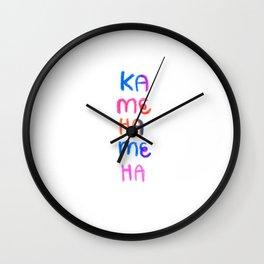Rainbow Kamehameha 001 Wall Clock