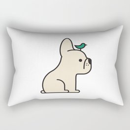 Frenchie Bird Rectangular Pillow
