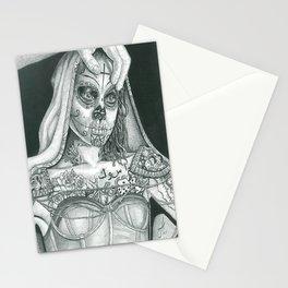 Sugarskull Tattooed Natalie Portman Stationery Cards