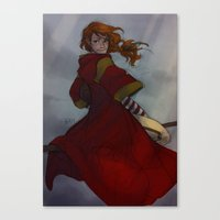 burdge Canvas Prints featuring Ginny Weasley by Burdge