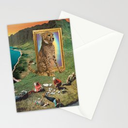 The giant cat and magical frame Stationery Cards