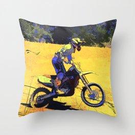 Riding Hard - Moto-x Champ Throw Pillow