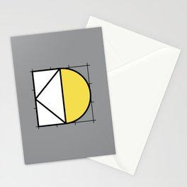 D // Perfectionist Alphabet (Pantone Ultimate Gray + Illuminating) Stationery Cards