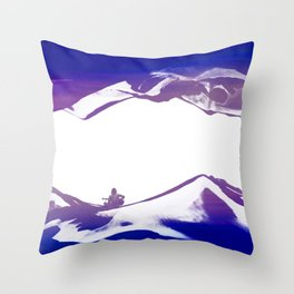 Purple Song of isolation Throw Pillow