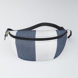 Nautical Blue White Stripes Fanny Pack