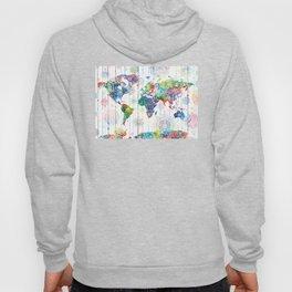 world map mandala white Hoody
