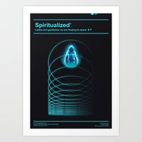Ladies And Gentlemen We Are Floating in Space Art Print