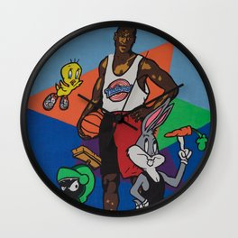 Space Jam Shoes Wall Clock
