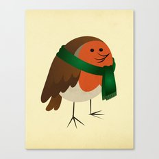 The Robin's new scarf Canvas Print