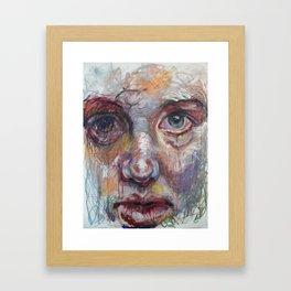 In The Mirror, Again Framed Art Print