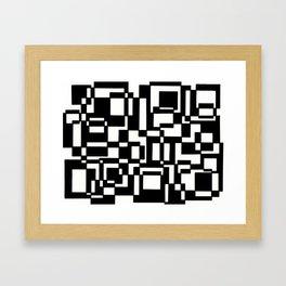 Squares Black´n´White Framed Art Print
