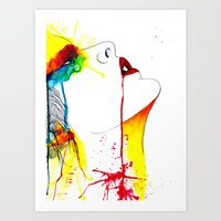 splatter Art Prints featuring Splatter by Jenny Huld