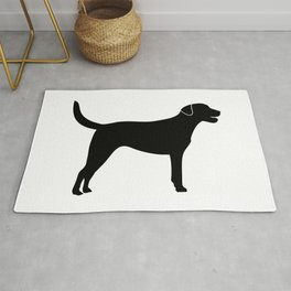 Black Labrador Retriever Silhouette #society6 #decor #buyart #artprint Rug