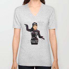 Ms Jackson RN inverse shirt Unisex V-Neck
