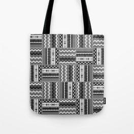 Vintage Black and White Tote Bag