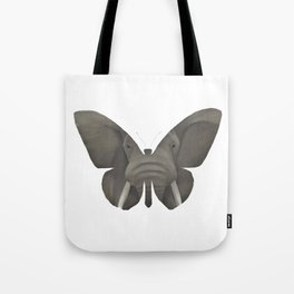 Elephant Butterfly Tote Bag
