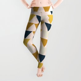 Arrows Pattern in Blush and Mustard and Navy Blue and Taupe Leggings