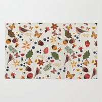 botanical Area & Throw Rugs featuring Botanical by Kakel