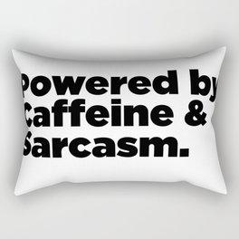 Powered By Caffeine & Sarcasm Rectangular Pillow