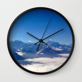 Alps above the clouds Wall Clock