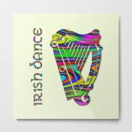 Irish Dance Rainbow Harp Metal Print