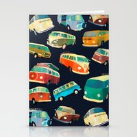 volkswagon Stationery Cards featuring Kombi Heaven by Buster Fidez