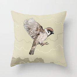 Sparrow-Spring-Love-Bird-Animal Throw Pillow