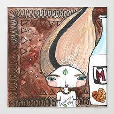 Milk & Cookies Bhoomie Canvas Print