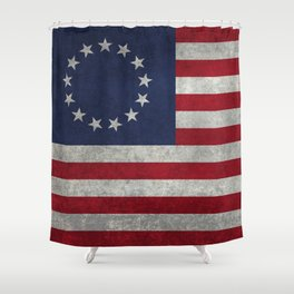 USA Betsy Ross flag - Vintage Retro Style Shower Curtain