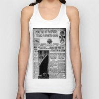 duvet cover Tank Tops featuring THE HISTORY OF SHIP DUVET COVER by aztosaha