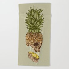 Pineapple Skull Beach Towel