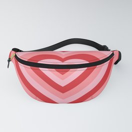 70s psychedelic pink heart Fanny Pack