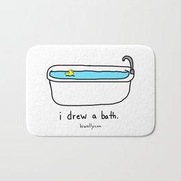 i drew a bath Bath Mat
