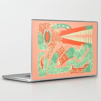 crocodile Laptop & iPad Skins featuring Crocodile by Natalie Young