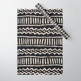 African Vintage Mali Mud Cloth Print Wrapping Paper