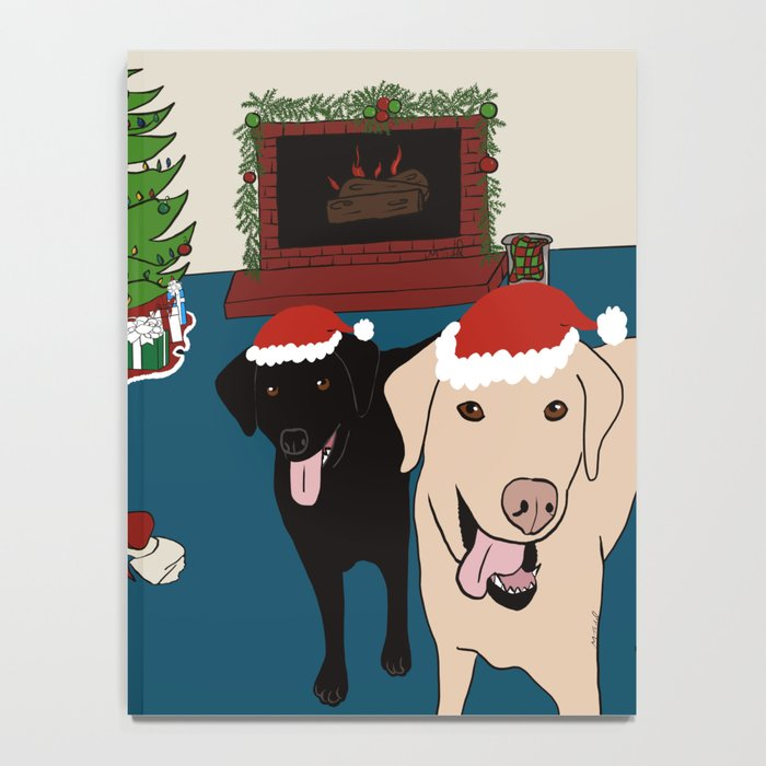 Labs Love Christmas! Notebook