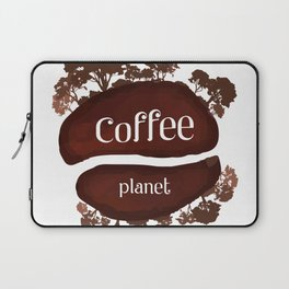 Welcome to the Coffee planet - I love Coffee Laptop Sleeve