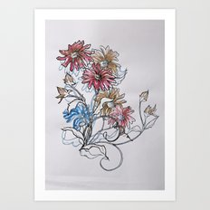Colour Daisy Art Print