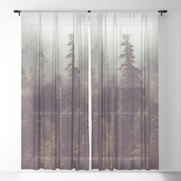 Weekend Escape - Forest Nature Photography Sheer Curtain