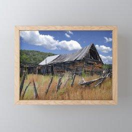 Old Barn, Trampas, New Mexico Framed Mini Art Print