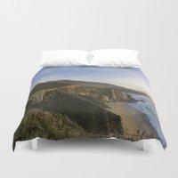 big sur Duvet Covers featuring Bixby Bridge at Big Sur by photographyk