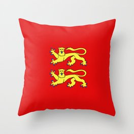 flag of normandie Throw Pillow